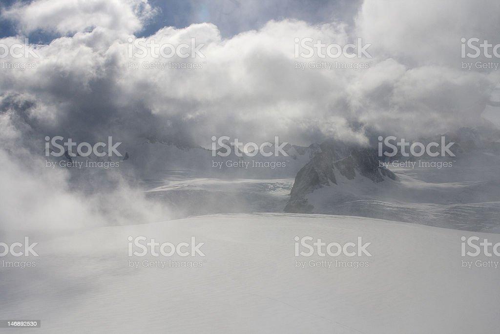 On top of glacier Franz Joseph stock photo