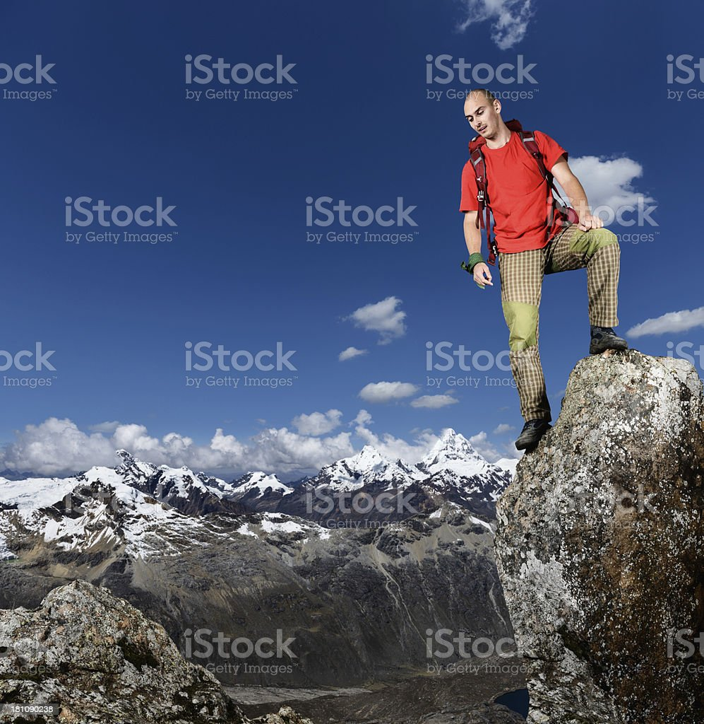on top of the cliff royalty-free stock photo