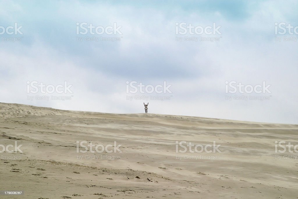 On top of the dune royalty-free stock photo
