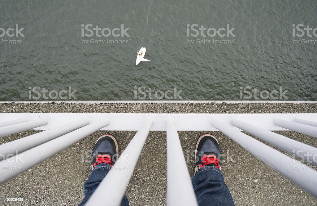 On top of the Forth road bridge Scotland royalty-free stock photo