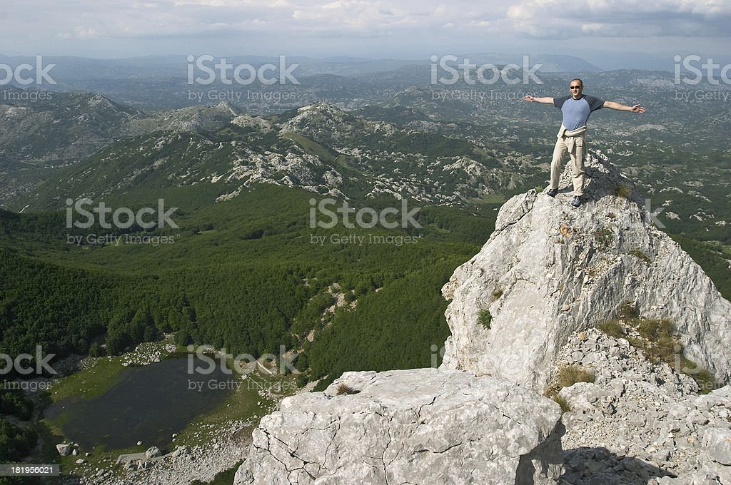 On top of the mountain royalty-free stock photo