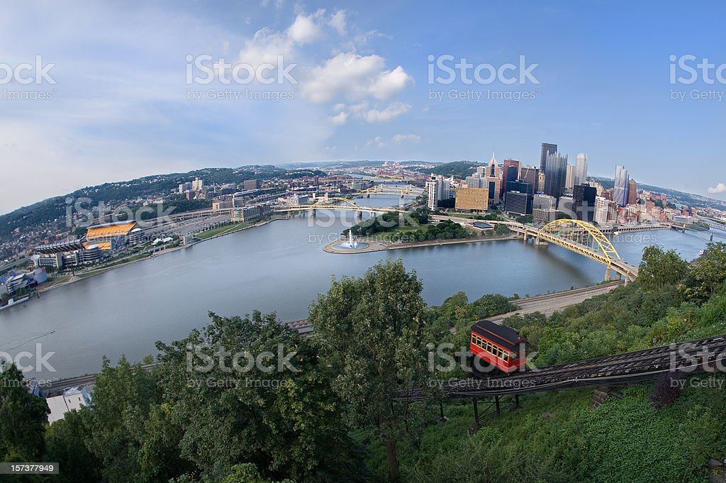 On Top Of The World In Pittsburgh stock photo