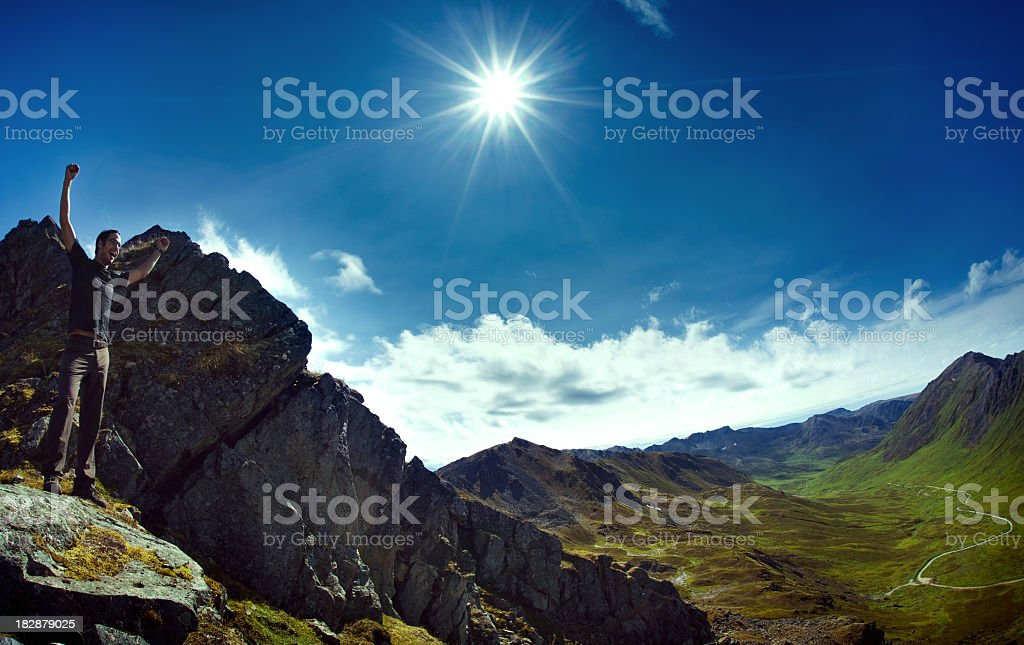 On Top Of The World royalty-free stock photo