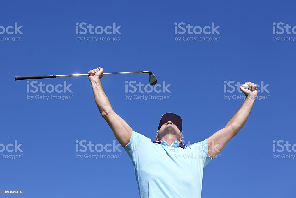 On top of the world! stock photo