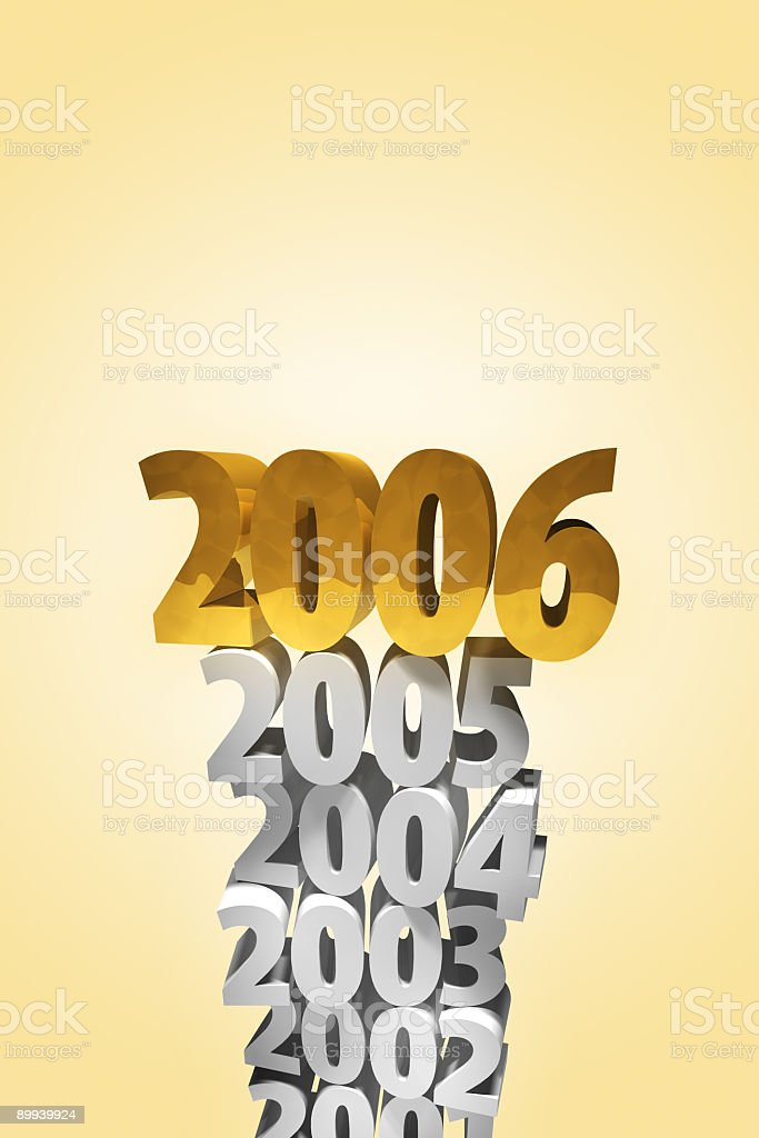 YEAR 2006 on top royalty-free stock photo