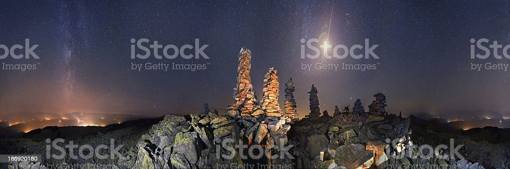 On tops of the Alps royalty-free stock photo