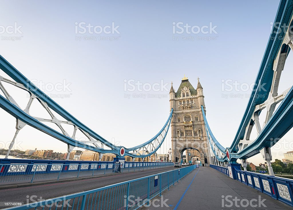 On Tower Bridge in London stock photo