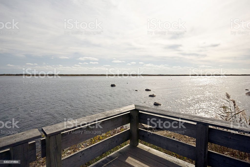 On Trustom Pond stock photo