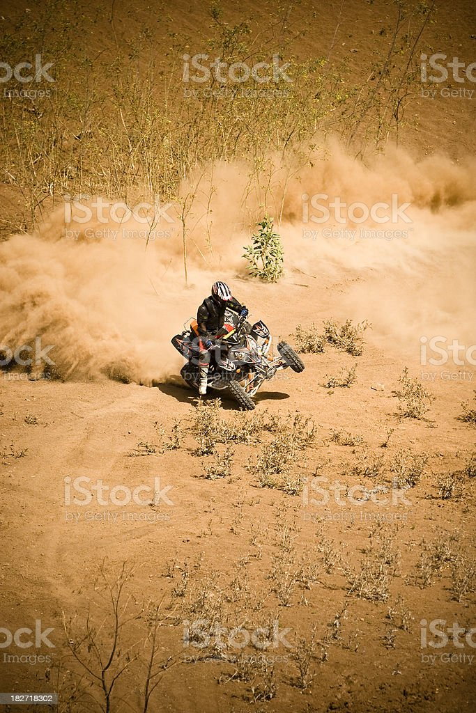 On two wheels royalty-free stock photo