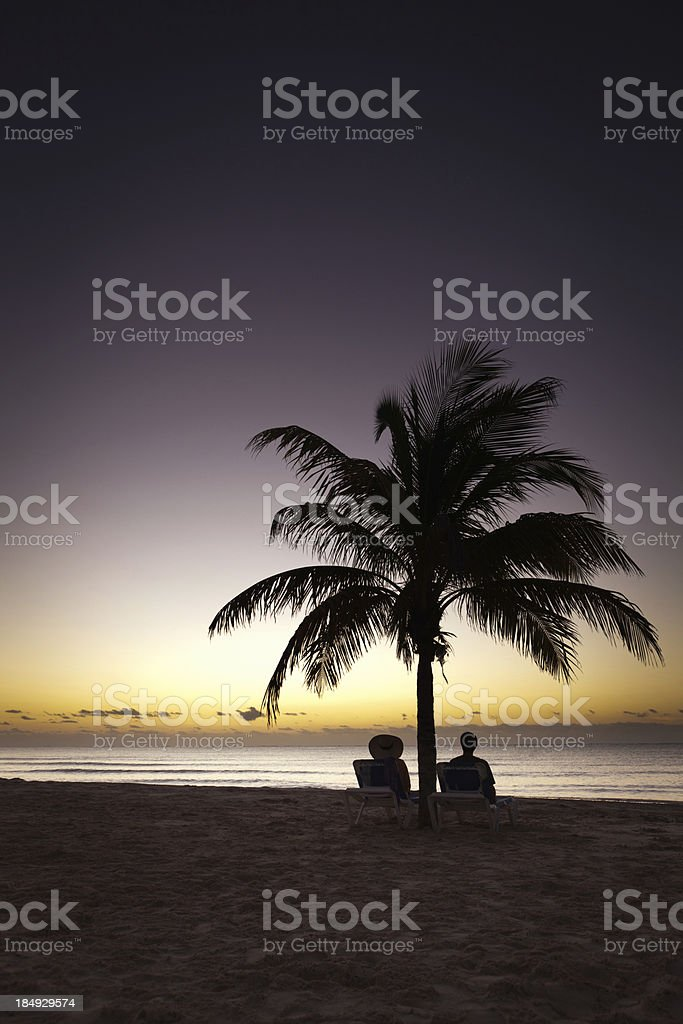 On Vacation in Playa del Carmen Riviera Maya Sunrise royalty-free stock photo