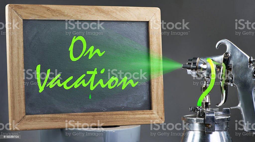 On Vacation stock photo