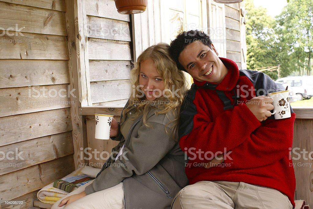 On veranda royalty-free stock photo