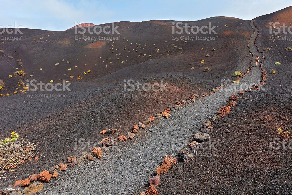On Volcanic Footpath, La Palma stock photo