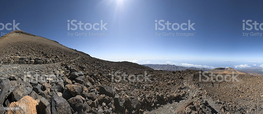 On volcano, Tenerife royalty-free stock photo