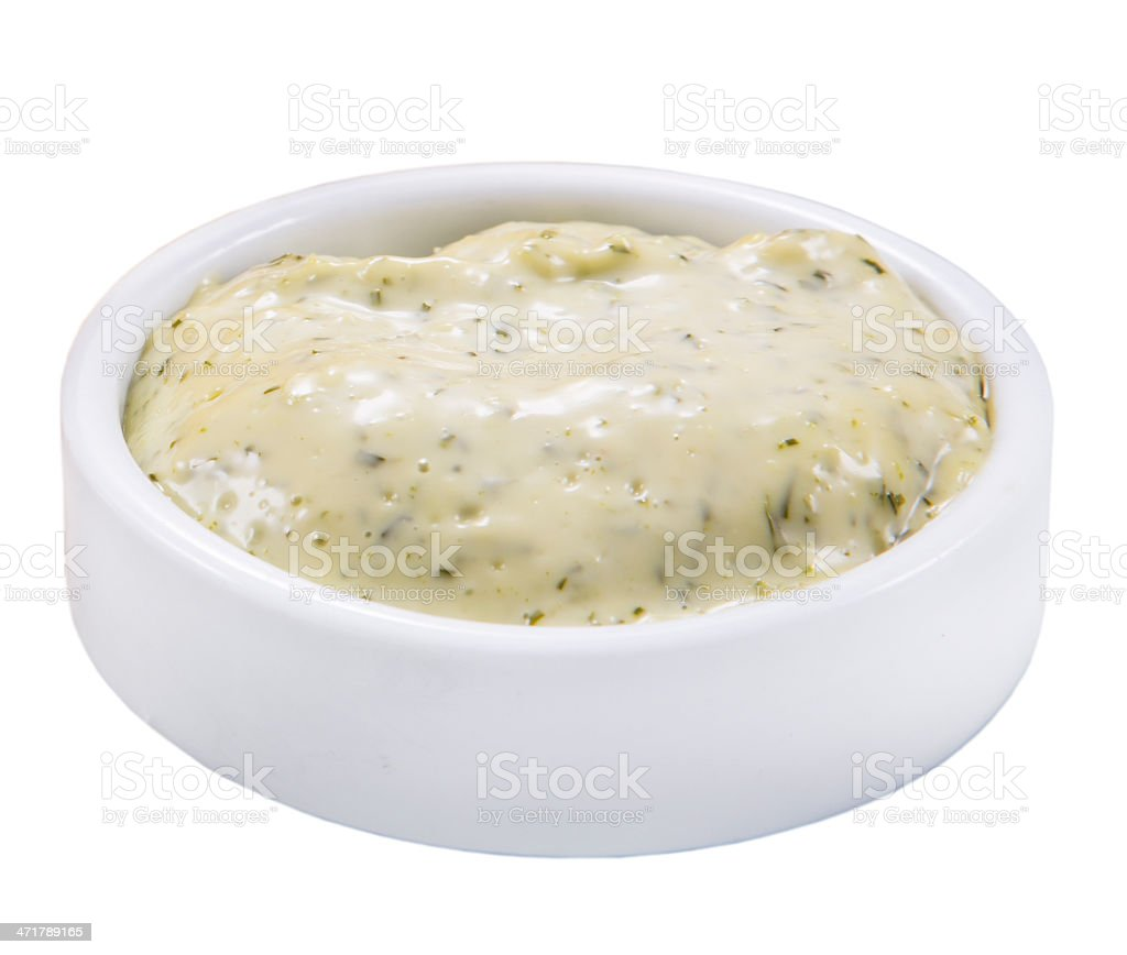 on white background isolated sauce in gravy boat stock photo