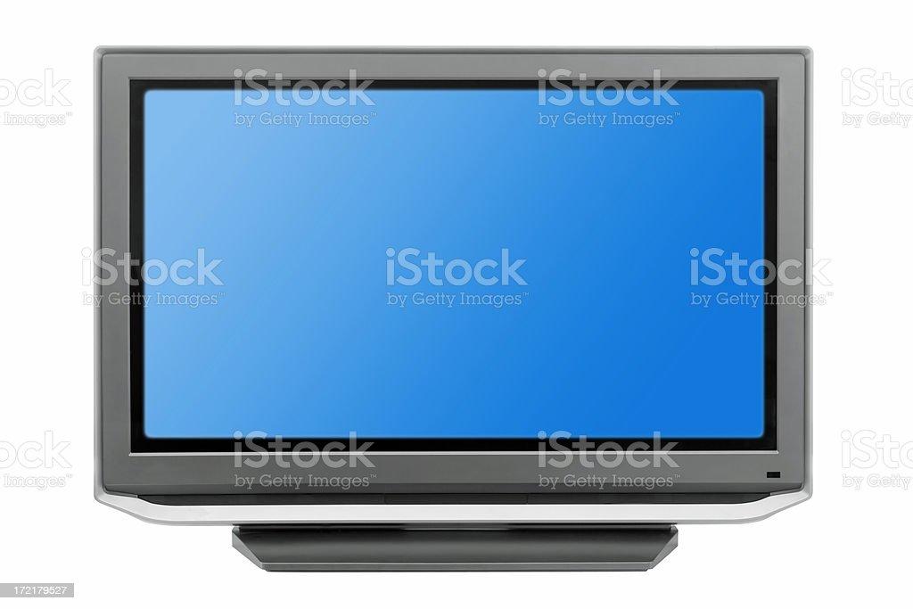 TV on white royalty-free stock photo