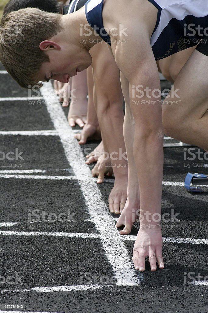 On Your Mark, Get Set... royalty-free stock photo