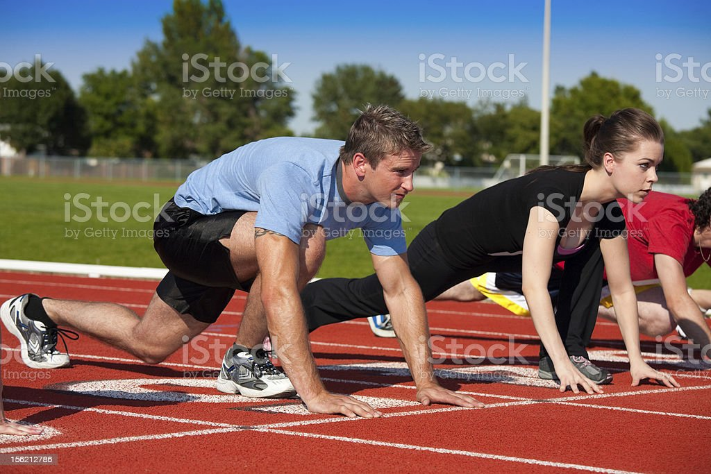 On Your Mark royalty-free stock photo