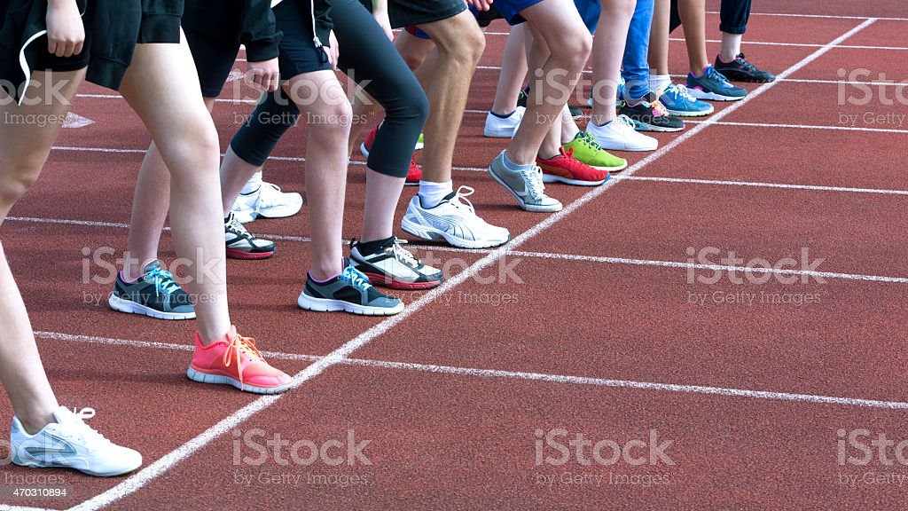 On your marks, get set... stock photo