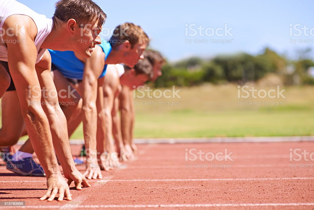 On your marks stock photo