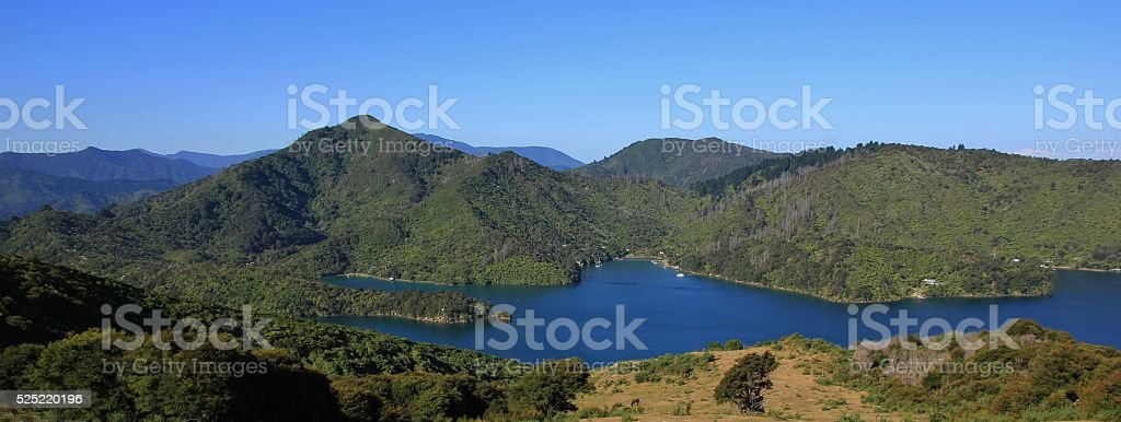 Onahau Bay, landscape in New Zealand stock photo