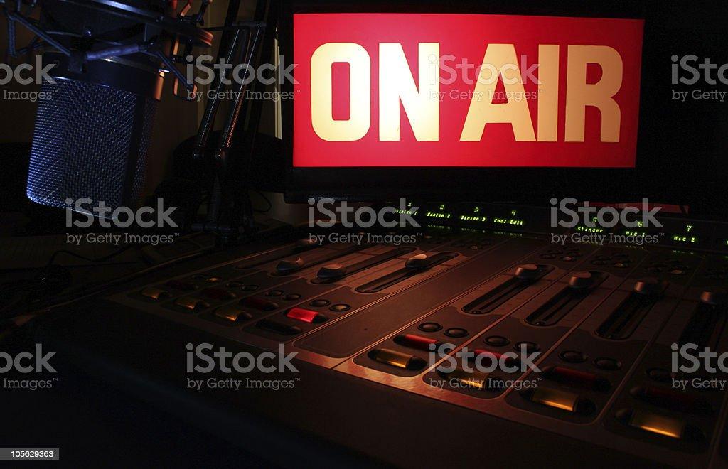 On-Air Radio Panel royalty-free stock photo