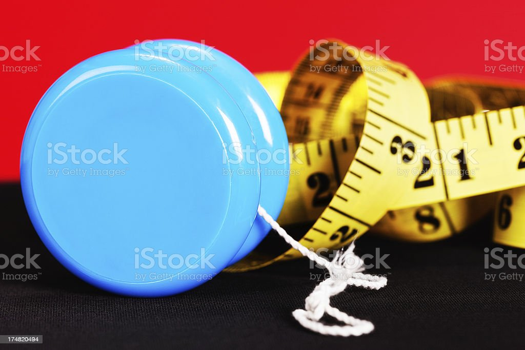 On-and-off or yo-yo dieting is not a good idea royalty-free stock photo