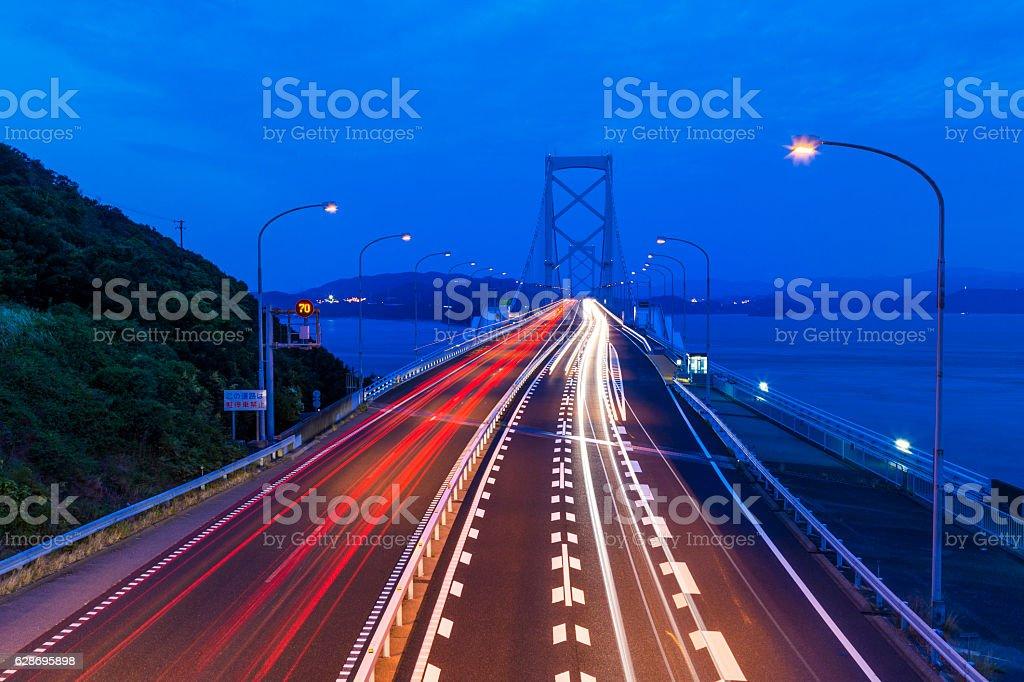 Onaruto bridge at twilight stock photo