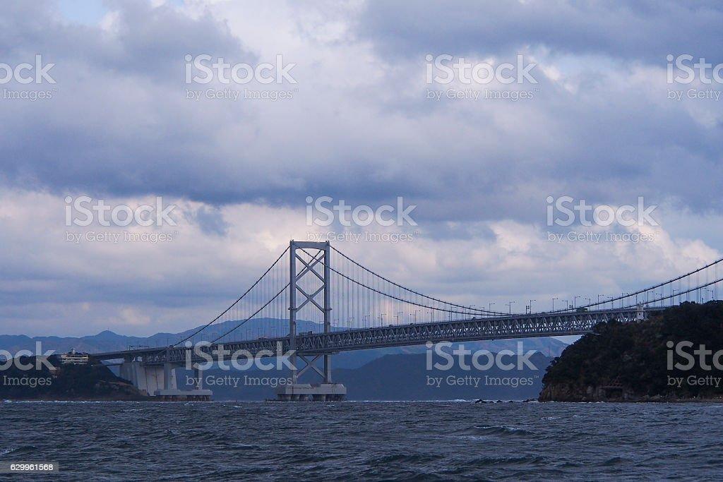 Onarutokyo bridge in rainy day. stock photo