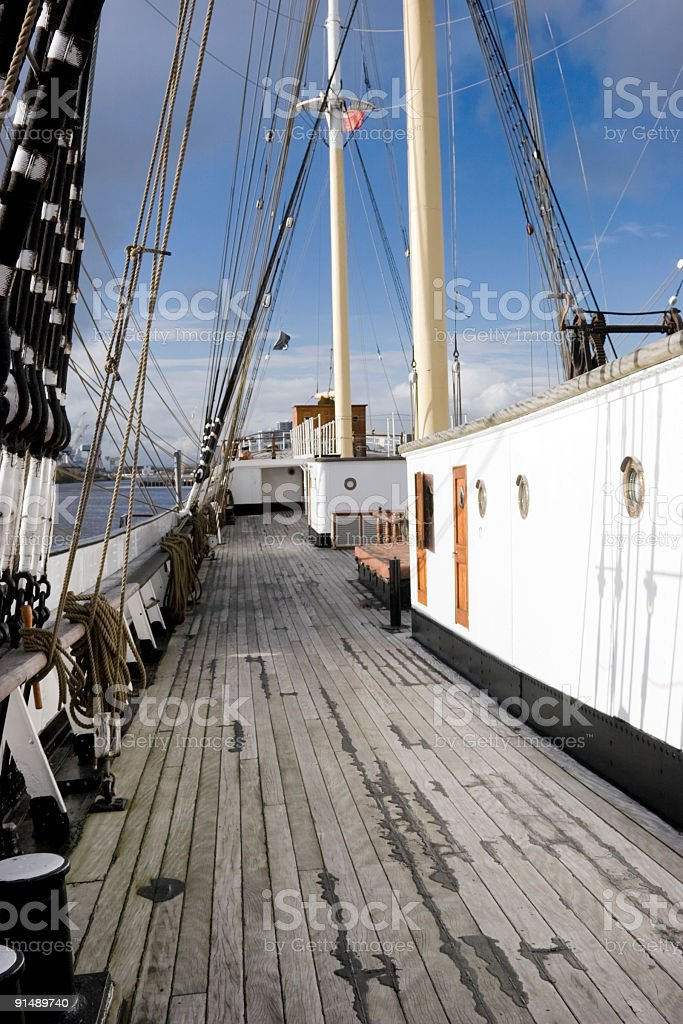 Onboard A Victorian Sailing Ship royalty-free stock photo