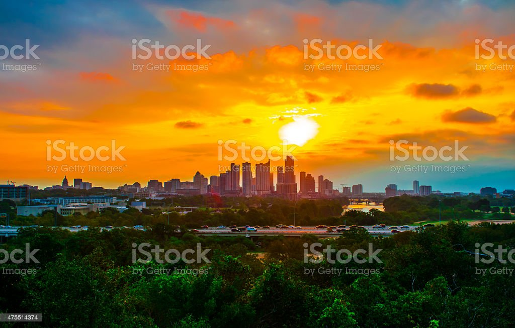 Once in a lifetime Austin Texas Sunrise stock photo