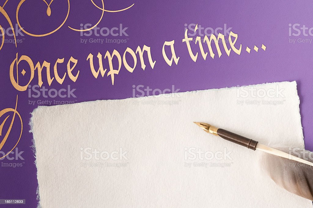 Once upon a time book cover royalty-free stock photo