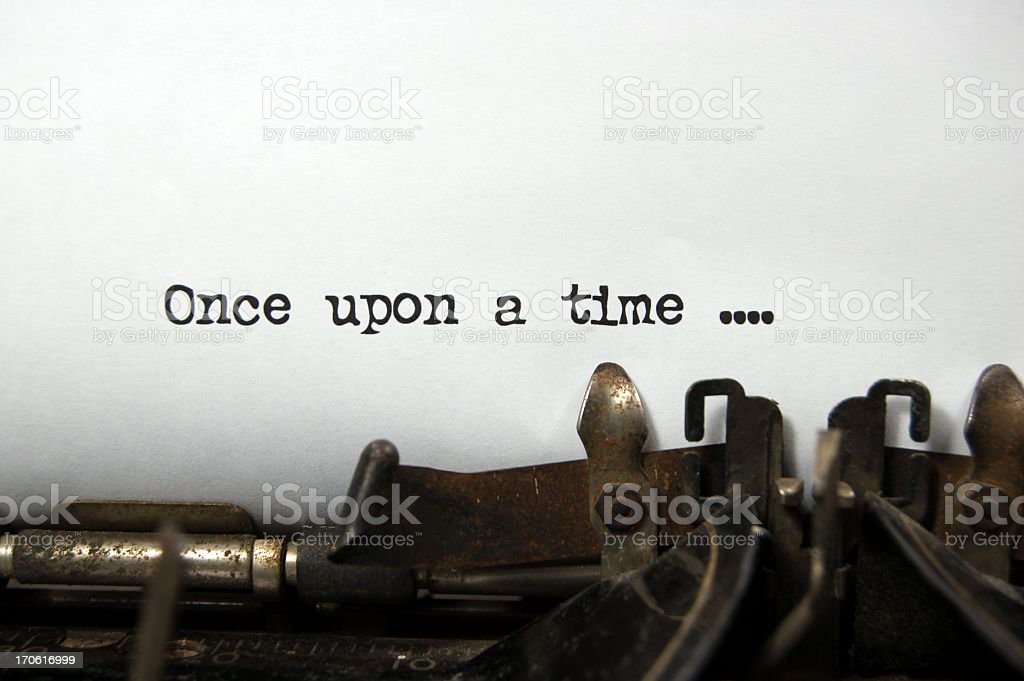 Once upon a Time ... on antique typewriter stock photo