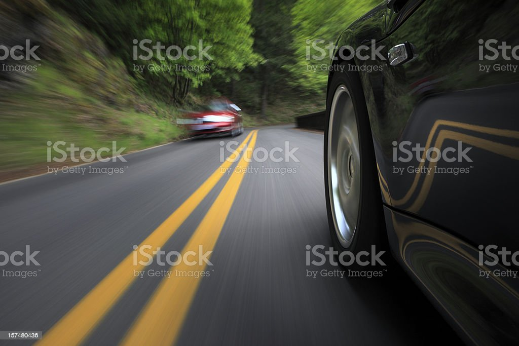 Oncoming Traffic. stock photo