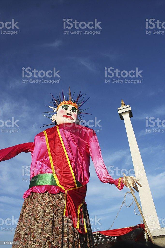 Ondel-Ondel, The Mascot of Jakarta stock photo