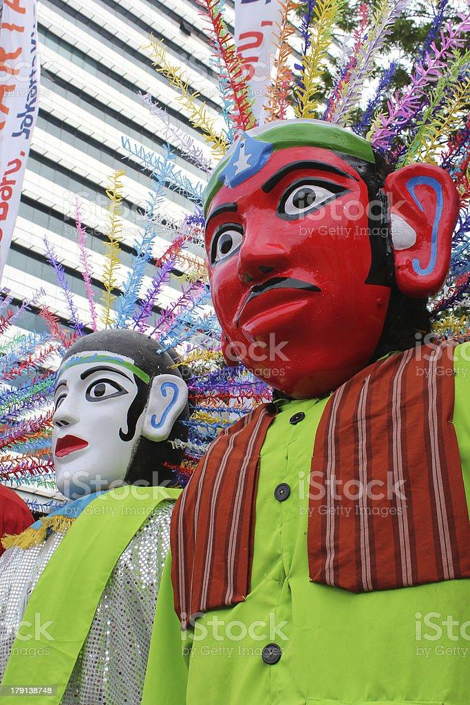 Ondel-Ondel, the mascot of Jakarta royalty-free stock photo