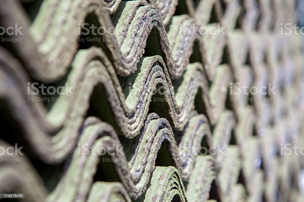 Onduline roof tiles as a background stock photo