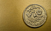 One 1 Pound British Currency Sterling Coin