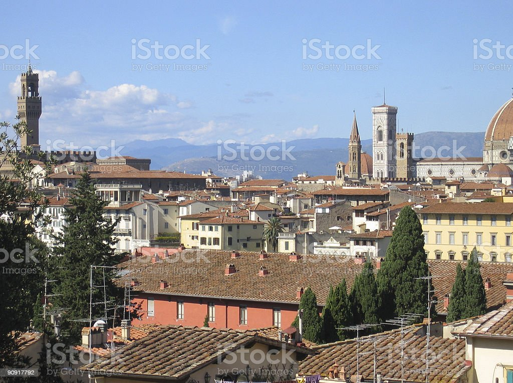 One Afternoon in Florence, Italy stock photo