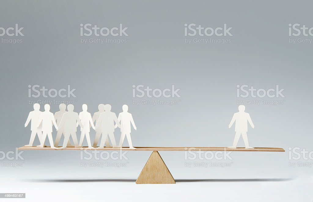 One against many stock photo