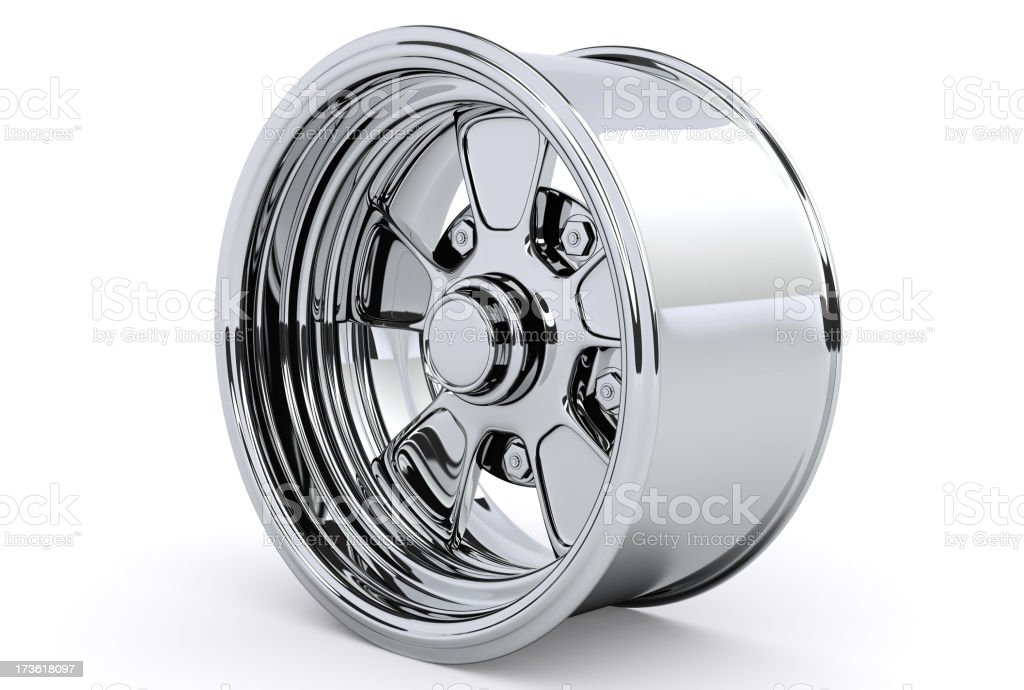 One alloy car rim royalty-free stock photo