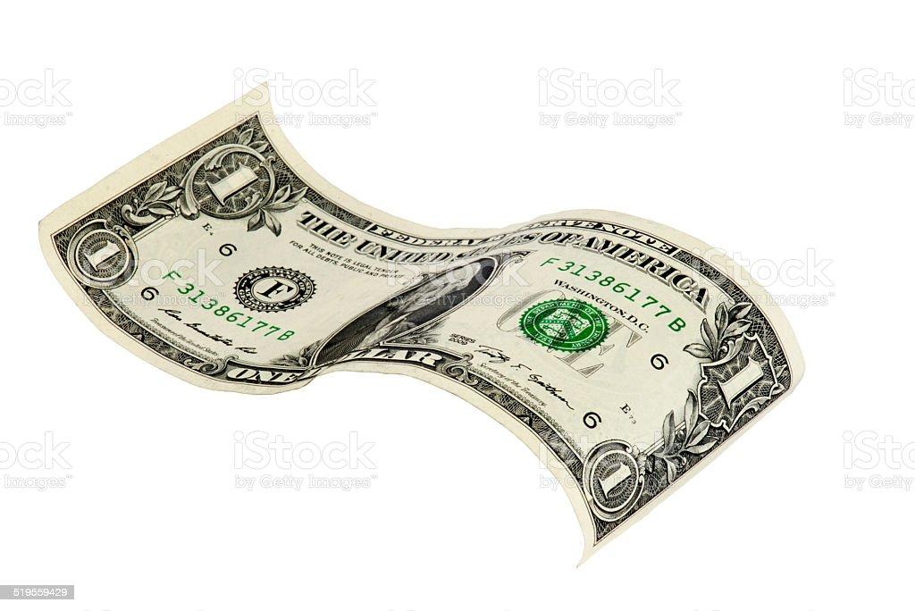 One American Dollar Bill stock photo