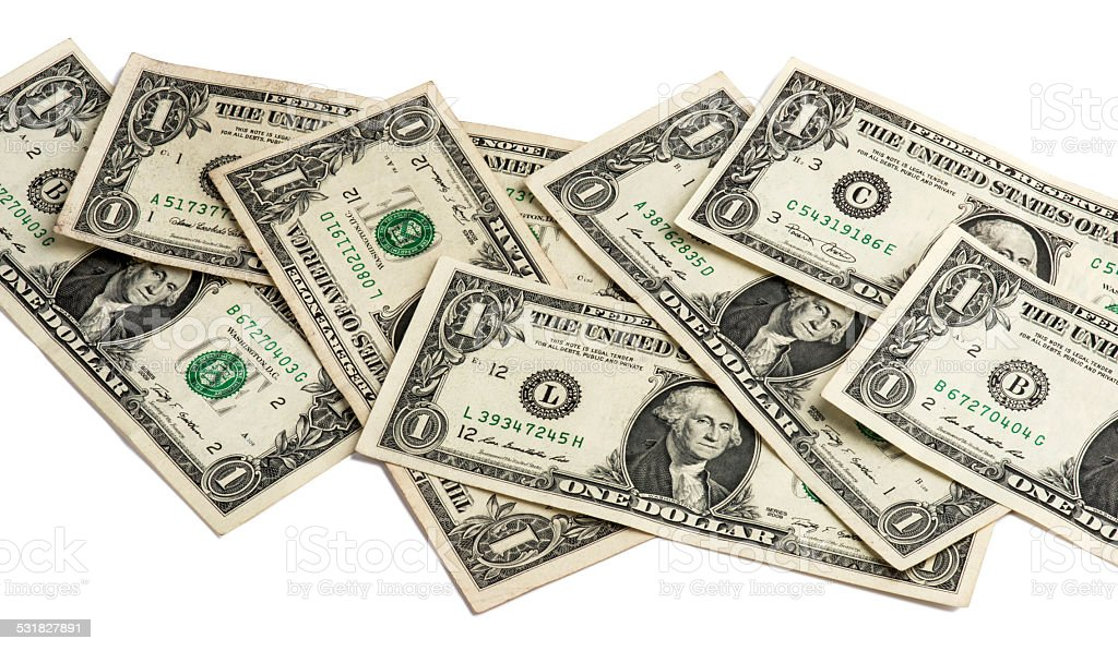 One American Dollar Bill stock photo