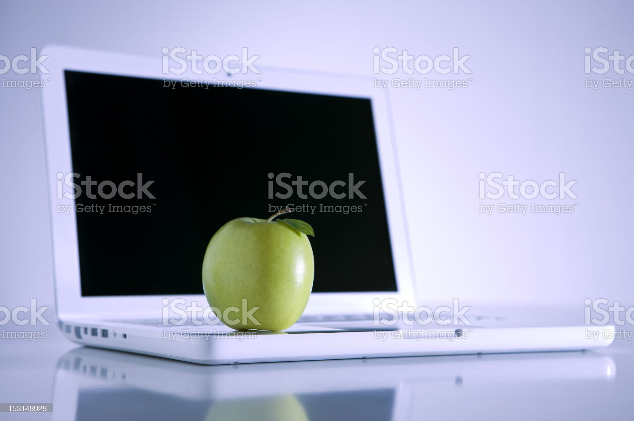 one apple a day royalty-free stock photo