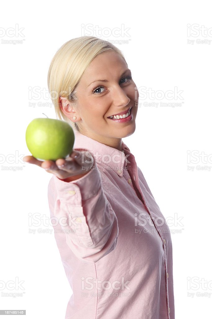 One apple for you my friend! royalty-free stock photo