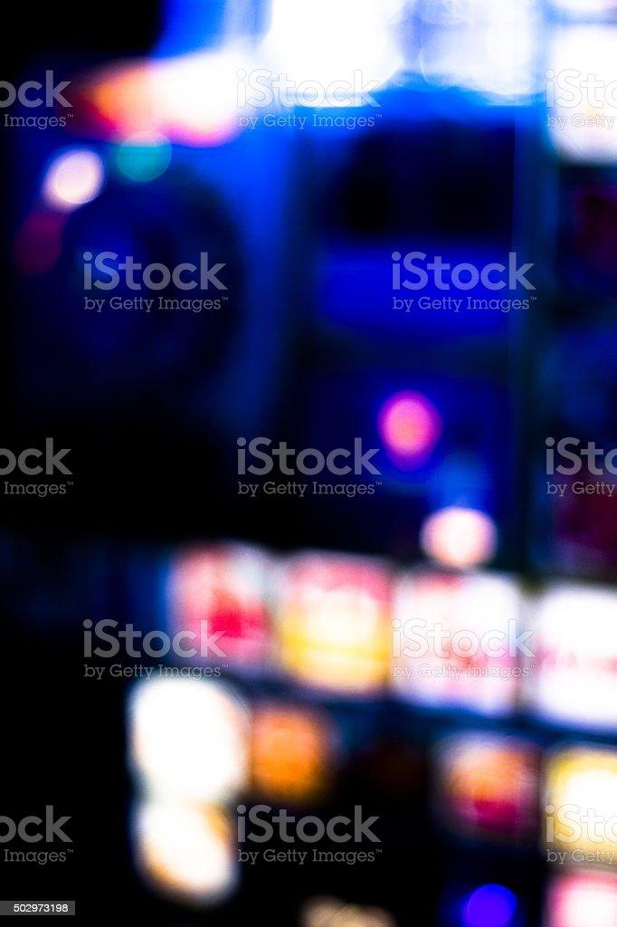 One arm bandit slot machine in casino stock photo