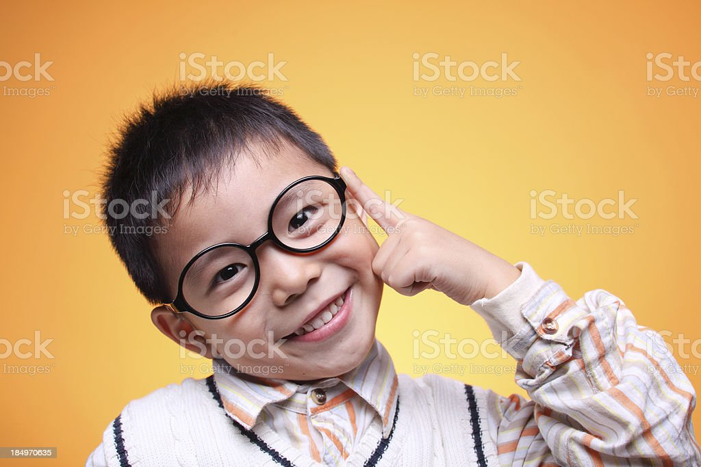 one asian boy closeup royalty-free stock photo