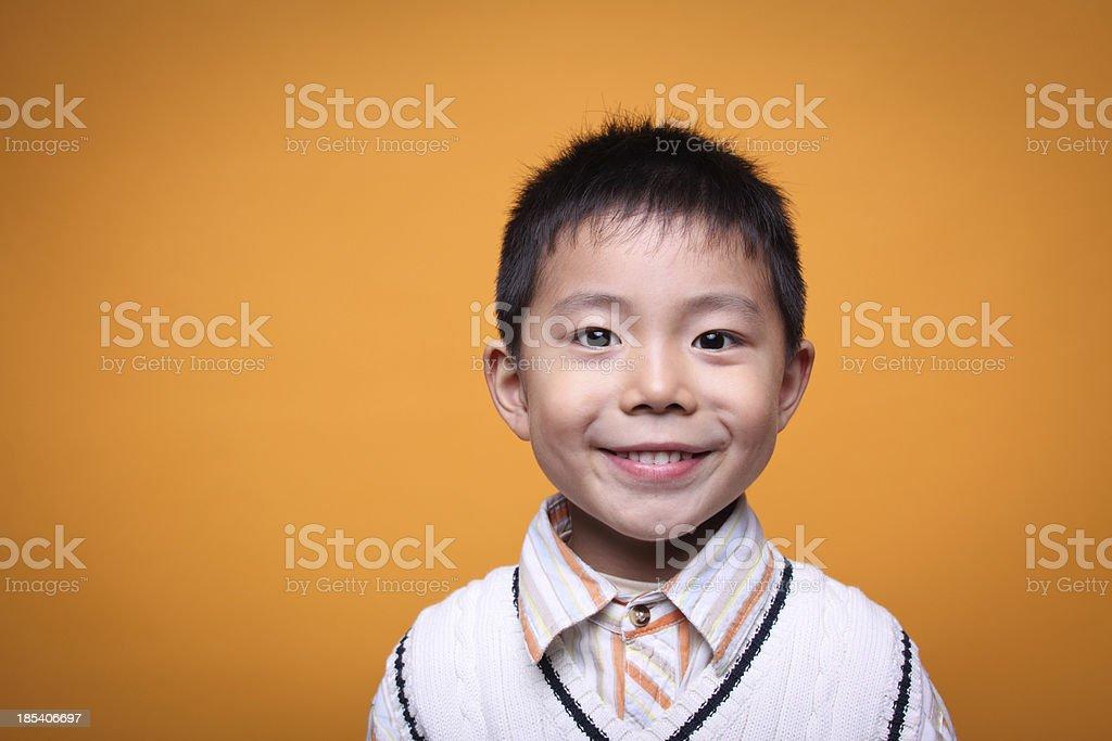 one asian boy closeup royalty-free stock photo