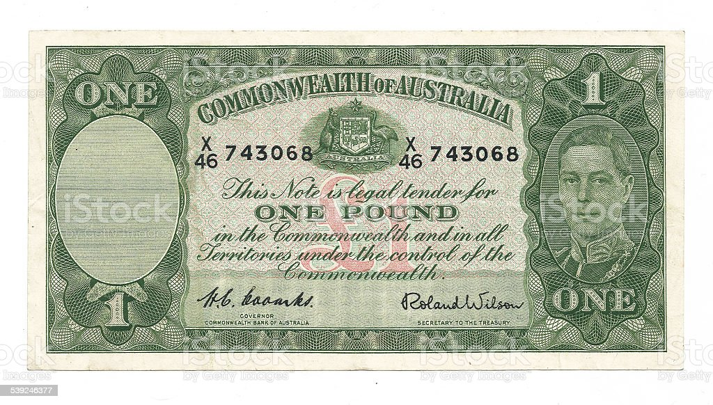 One Australian Pound stock photo