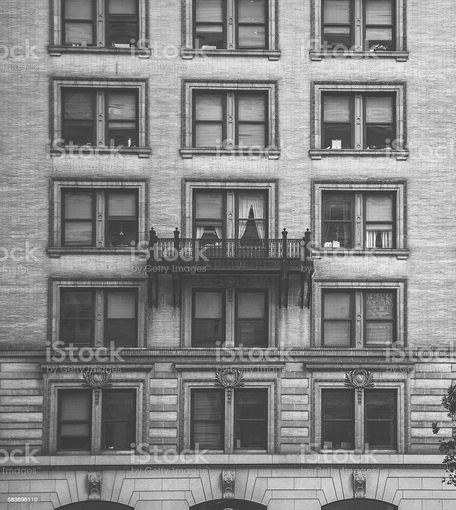 one balcony stock photo